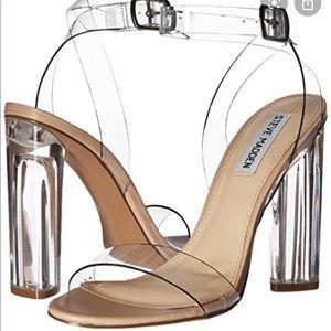 Steve Madden Teena Lucite Clear Heels
